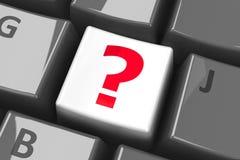 Keyboard question key Royalty Free Stock Photo