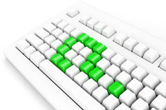 Keyboard with question-mark Stock Photos