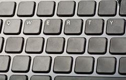 Keyboard qwerty. Keyboard wiyh only key qwerty royalty free stock image