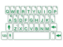 Keyboard qwerty flat green. For web Royalty Free Stock Photo