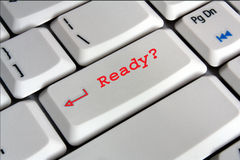 Keyboard with Ready key Royalty Free Stock Photography