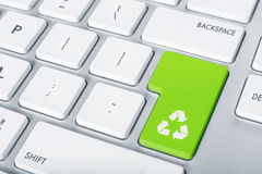 Keyboard recycle button Royalty Free Stock Image