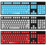 Keyboard red blue and white vector Royalty Free Stock Images