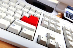 Keyboard with red button Stock Images