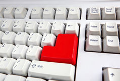 Keyboard with red button Royalty Free Stock Image