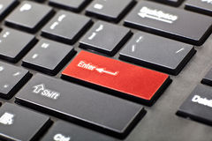 A keyboard with red button Stock Photos