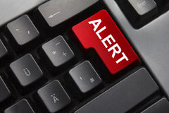 Keyboard red button alert Stock Photo