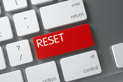 Keyboard with Red Button - Reset. 3D. Stock Images