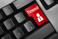 Keyboard red button timeout work Stock Images
