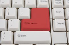 Keyboard with red key Stock Photography