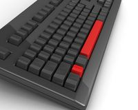 Keyboard with red keys Stock Photos