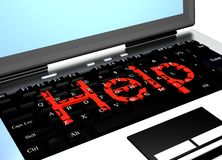 Keyboard with red words help Royalty Free Stock Image