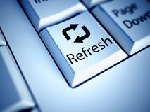 Keyboard and Refresh button, internet concept Stock Image