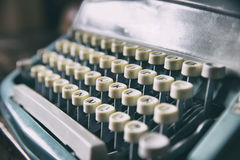 Keyboard of retro printer Royalty Free Stock Photography