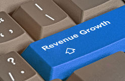 Keyboard for revenue growth Stock Photo