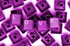 LOVE pink keys Stock Photography