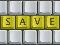 Keyboard Save. Keyboard blank with save on center Royalty Free Stock Images