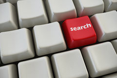 Keyboard with search button Royalty Free Stock Image