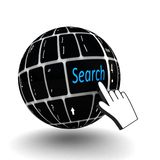 Keyboard search  key Royalty Free Stock Images