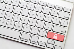 Keyboard Secure Button Stock Images