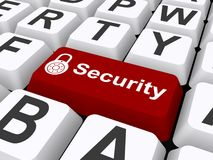 Keyboard with security button Stock Photo