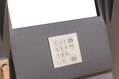 Keyboard self-service terminal. Closeup Stock Image