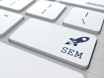 Keyboard with SEM Button. Stock Image