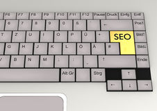 Keyboard SEO Royalty Free Stock Photos