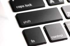 Keyboard shift key Royalty Free Stock Photo