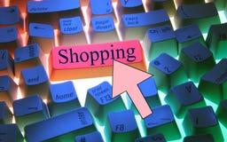 Keyboard-Shopping Royalty Free Stock Photos