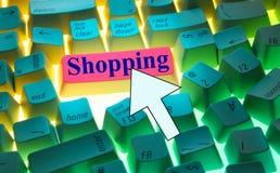 Keyboard-Shopping Stock Photos