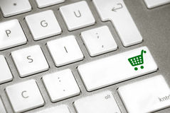 Keyboard Shopping cart Royalty Free Stock Images