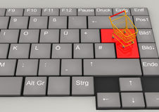 Keyboard Shopping Cart Stock Photo