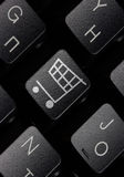 Keyboard with shopping key Royalty Free Stock Photo