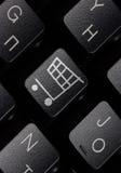 Keyboard with shopping key Royalty Free Stock Photo