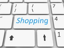Keyboard shopping  key Royalty Free Stock Photo