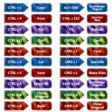 Keyboard Shortcut Button Set Royalty Free Stock Image