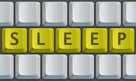 Keyboard Sleep Royalty Free Stock Photography