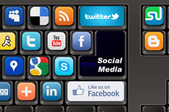 Keyboard Social media Royalty Free Stock Photography