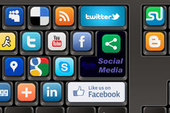 Keyboard Social media Royalty Free Stock Images