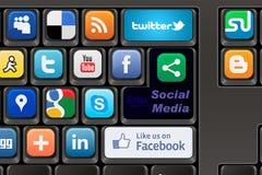 Keyboard Social media Royalty Free Stock Images