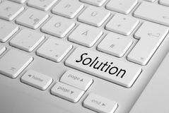 Keyboard Solution Royalty Free Stock Photos