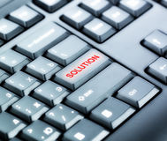 Keyboard with SOLUTION Button Stock Images