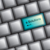 Keyboard with solution key Royalty Free Stock Images