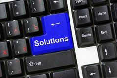 Keyboard Solutions Royalty Free Stock Image