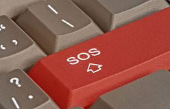 Keyboard with SOS key Royalty Free Stock Photography