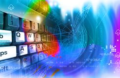 Keyboard and space Royalty Free Stock Photo