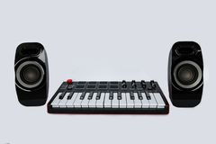 Keyboard with speakers Royalty Free Stock Photos