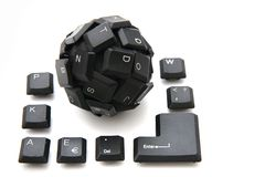 Keyboard sphere as new input device for your computer Royalty Free Stock Photography