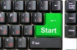 Keyboard  start Royalty Free Stock Photography